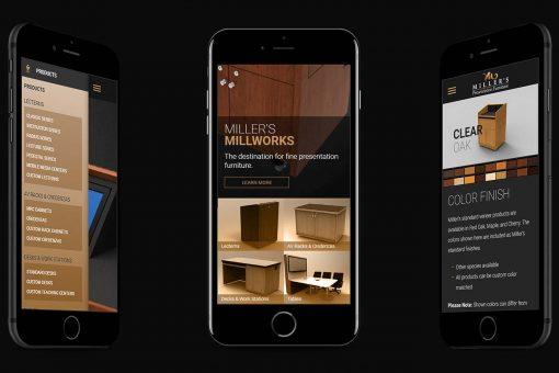 Millers' Millworks on Smartphones
