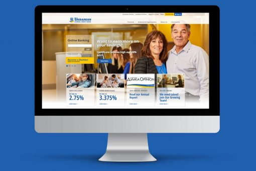 Ukrainian Federal Credit Union on Desktop